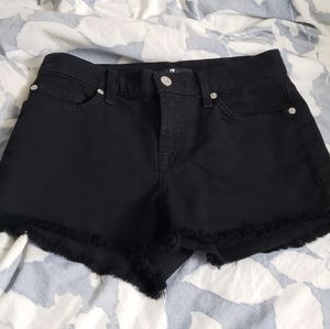 7 for all mankind denim black shorts